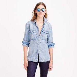J. Crew Button Up Chambray Shirt